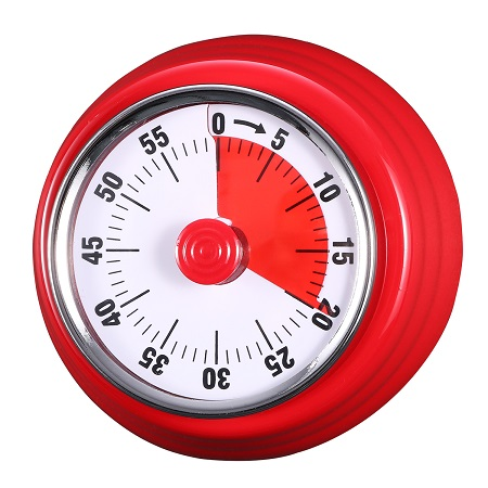 60 Minutes Mechanical Timer - Magnetic Visual Countdown Timer With Alarm for Kitchen Cooking Baking Sports Kids (Red)