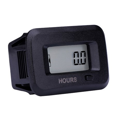 Digital 5-277 Volt AC/DC Hour Meter Read Existing Hours for ATV Lawn Mower Chainsaw Compressor Tiller Chipper Marine Farm Tractor Excavator