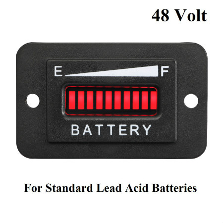 48V Volt LED Battery Indicator Meter Gauge Golf Cart for Standard Lead acid Battery